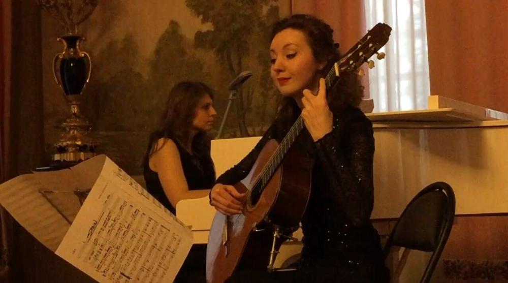 С Ксенией Акимовой на концерте