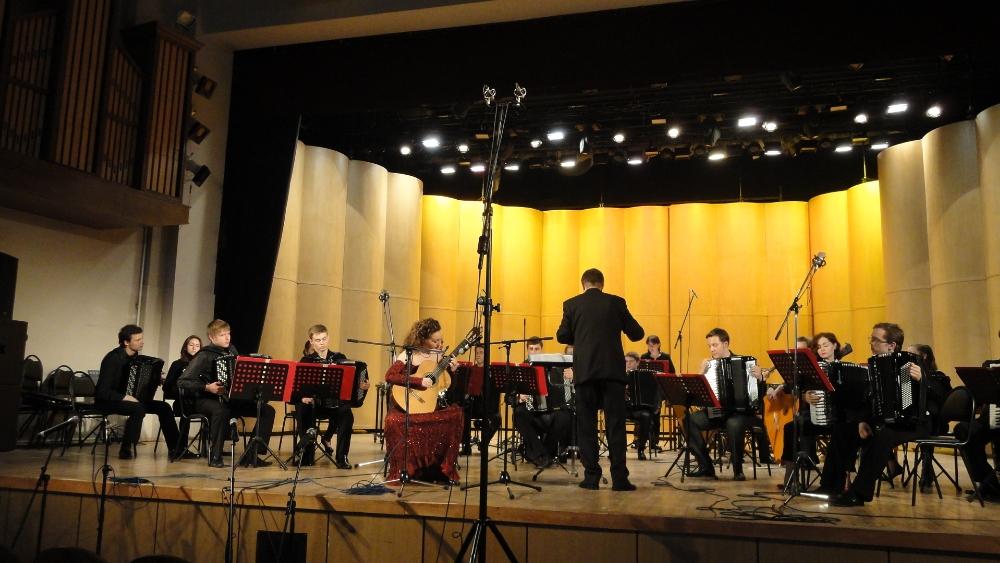 Выступление с Оркестром баянистов и аккордеонистов в Концертном зале РАМ им. Гнесиных